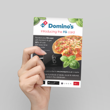 Domino's flyer for Feast Gold Card